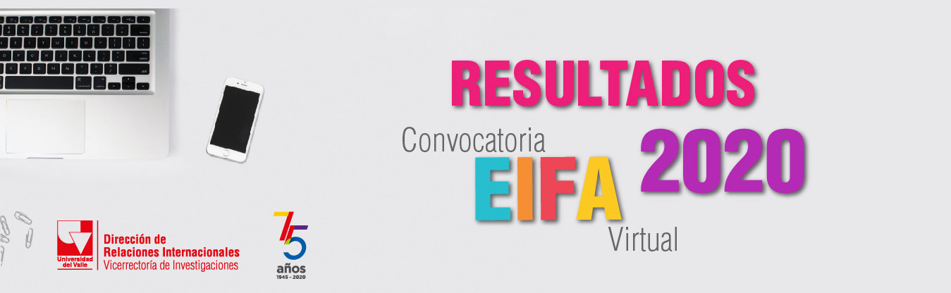 Resultados Convocatoria EIFA Virtual 2020