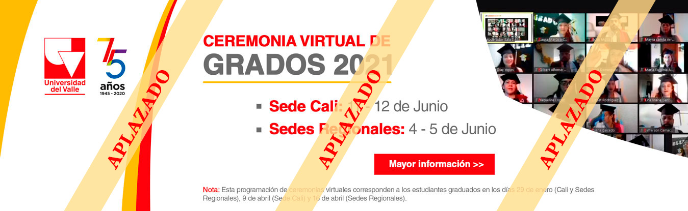 Ceremonia virtual de grados 2021