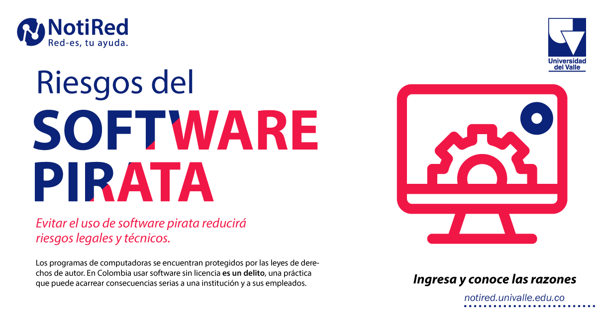 Riesgos del software pirata